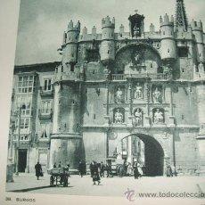 Coleccionismo: BURGOS ARCO DE SANTA MARIA ANTIGUO HUECOGRABADO AÑOS 30. Lote 31829421