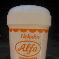Coleccionismo: TARRINA DE HELADO VACIA - HELADOS ALFA - VENEZUELA (P). Lote 31876394