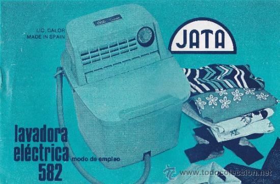 ANTIGUO MANUAL DE LAVADORA ELECTRICA JATA MODELO 582 * (Coleccionismo - Laminas, Programas y Otros Documentos)