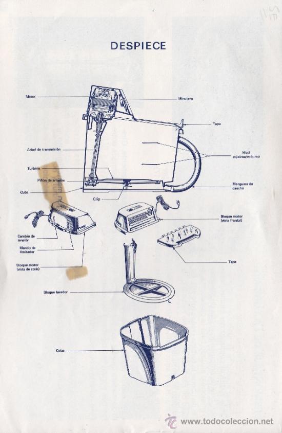 Coleccionismo: ANTIGUO MANUAL DE LAVADORA ELECTRICA JATA MODELO 582 * - Foto 3 - 31879231