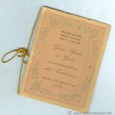 Coleccionismo: LICEO - CARNET DE BAILE - GRAN BAILE DEL CENTENARIO - 1948 . Lote 32060279