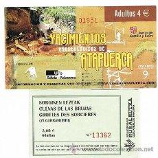 Coleccionismo: ENTRADA CUEVAS DE LA BRUJAS. Lote 32171697