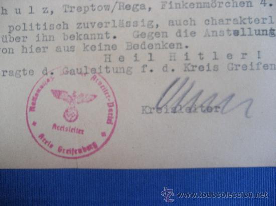 Coleccionismo: DOCUMENTO ORIGINAL ALEMANIA WW2 100 %100 AUTÉNTICO NSDAP - Foto 2 - 32238233