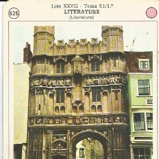 Coleccionismo: ** PA192 - FICHA EDITORIAL FHER - 1978 - MURALLA DE LA CATEDRAL DE CANTERBURY. Lote 32249151