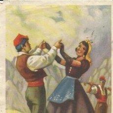 Coleccionismo: ** PW290 - HOJITA TAMAÑO POSTAL - SARDANA - CATALUÑA. Lote 32294904