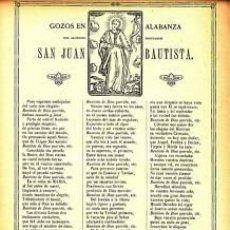 Coleccionismo: GOZOS SAN JOSÉ.1911. IMP.VDA. PLA. BARCELONA FOLIO. Lote 32343359