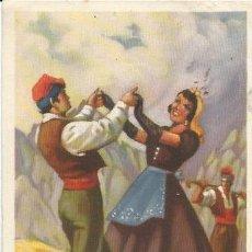 Coleccionismo: ** PA187 - HOJITA TAMAÑO POSTAL - SARDANA - CATALUÑA. Lote 32395807