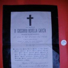 Coleccionismo: GRAN SOBRE ESQUELA. AÑO 1908.. Lote 32503332