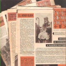 Coleccionismo: HOJA DOMINICAL ( IGLESIAS )- AÑOS 70 - 11 NºS DIFERENTES. Lote 32556558