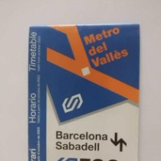 Coleccionismo: HORARIOS TREN FGC AÑO 2003 LINEA BARCELONA-SABADELL. Lote 32567426