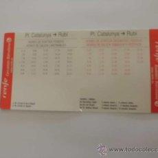 Coleccionismo: HORARIOS TREN RENFE LINEA R7 (BARCELONA - RUBÍ). Lote 32567488
