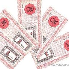 Coleccionismo: LOTE DE 5 CUPONES DE VALES DESCUENTO--SIMBOLIZA MURILLO CALIDAD. Lote 32633492
