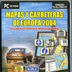 Coleccionismo: MAPAS Y CARRETERAS DE EUROPA 2004 PC CD-ROM . Lote 33101131