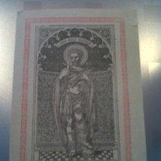 Coleccionismo: S. XIX ANTIGUO PAPEL RELIGIOSO ORACION Y PLEGARIA A SAN EXPEDITO 1891. Lote 32840370