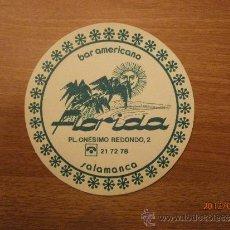 Coleccionismo: POSAVASOS BAR AMERICANO FLORIDA SALAMANCA. Lote 32896320