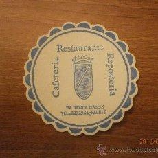 Coleccionismo: POSAVASOS CAFETERIAS RESTAURANTE REPOSTERIA HOTEL SUR MADRID. Lote 32896413