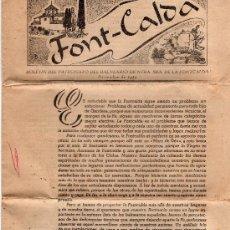 Coleccionismo: BOLETÍN DEL PATRONATO DEL BALNEARIO DE NTRA. SRA. DE LA FONTCALDA, GANDESA, DICICIEMBRE DE 1959. Lote 33054279