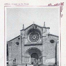 Coleccionismo: AVILA 1910 IGLESIA DE SAN PEDRO HOJA LIBRO. Lote 33075402