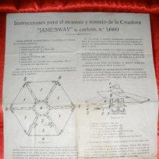 Coleccionismo: INSTRUCCIONES PARA EL MONTAJE Y MANEJO DE LA CRIADORA -JAMESWAY- A CARBON.. Lote 33214705