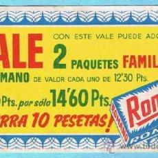 Coleccionismo: VALE POR DOS PAQUETES FAMILIAR. JABON PARA LAVAR ROPA ROMANO. BLANCO DESLUMBRANTE. . Lote 33241272