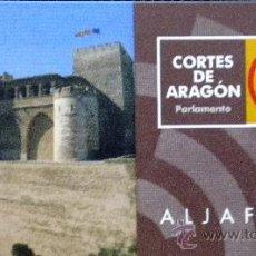 Coleccionismo: ENTRADA TICKET CORTES ARAGON PARLAMENTO ALJAFERIA ZARAGOZA. Lote 33310547