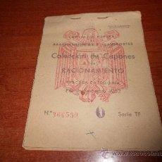Coleccionismo: CARTILLA DE RACIONAMIENTO TENERIFE Nº 366559, AÑO 1952 - REFª (JC). Lote 33463530