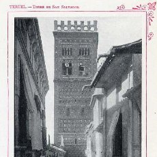 Coleccionismo: TERUEL 1920 TORRE SAN SALVADOR TAMAÑO IMAGEN 9 X 13 CM. HOJA LIBRO. Lote 33550807