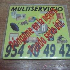 Coleccionismo: CHAPA ADHESIVA.-TELEFONO DE MULTISERVICIO.-5X5CTMS.-. Lote 33626029