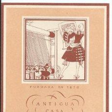 Coleccionismo: BARCELONA.-TARJETA PUBLICITARIA.-ANTIGUA CASA SALVÁ.-1945. Lote 33698256