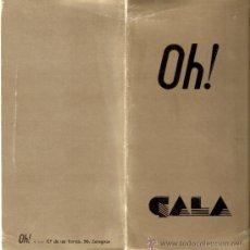 Coleccionismo: OH! DE BAILAR!.INVITACION FIESTA DE GALA.FIESTAS DEL PILAR.DISCOTECA.ZARAGOZA.21 X 10 CMTRS.. Lote 34009472