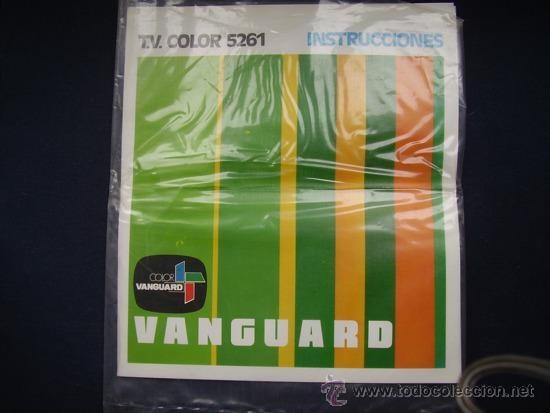MANUAL INSTRUCIONES TV COLOR VANGUARDAD AÑOS 70 (Coleccionismo - Laminas, Programas y Otros Documentos)
