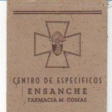 Coleccionismo: PRECIOSA CARPETILLA DE LA FARMACIA M. COMAS DE BARCELONA. AÑOS 30. Lote 34213644