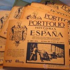 Coleccionismo: PORTFOLIO HISTORIA DE ESPAÑA-CASA EDITORIAL SEGUI-BARCELONA(77 FASICULOS). Lote 34224325