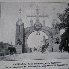 Coleccionismo: SANTIAGO DE COMPOSTELA - EXPOSICION 1909 - RECORTE DE PRENSA . Lote 34267628