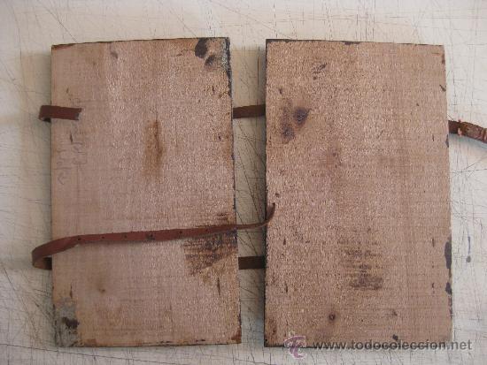 Coleccionismo: CARPETA PORTA CUADERNOS COLEGIAL DE MADERA - ESCUELA PRINCIPIOS SIGLO XX - PIEZA DE MUSEO - Foto 2 - 34275025