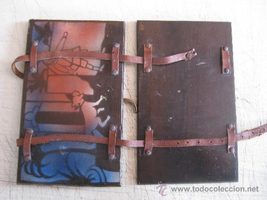 Coleccionismo: CARPETA PORTA CUADERNOS COLEGIAL DE MADERA - ESCUELA PRINCIPIOS SIGLO XX - PIEZA DE MUSEO - Foto 3 - 34275025