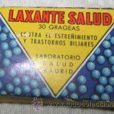 Coleccionismo: MEDICINA ANTIGUA, CAJA VACÍA DE LAXANTE SALUD. Lote 34275334