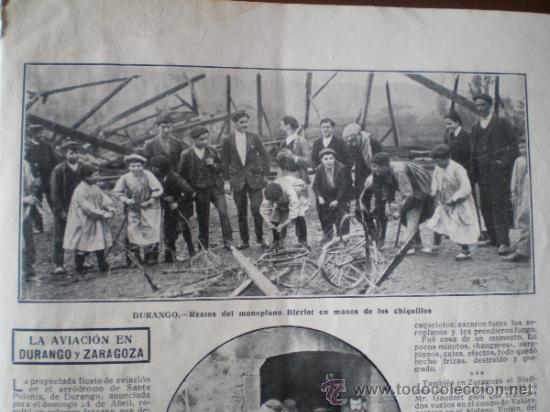 AVIACION - DURANGO - ZARAGOZA - RECORTE DE PRENSA (Coleccionismo - Laminas, Programas y Otros Documentos)