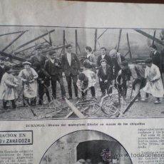 Coleccionismo: AVIACION - DURANGO - ZARAGOZA - RECORTE DE PRENSA. Lote 34283384