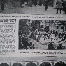 Coleccionismo: TARRAGONA - RECORTE DE PRENSA . Lote 34295337