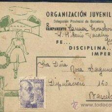 Coleccionismo: ORGANIZACION JUVENIL -DELEGACIÓN PROVINCIAL DE BARCELONA. Lote 34356484