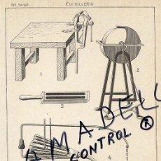 Coleccionismo: HERRAMIENTAS OFICIOS CUCHILLERIA HOJA LIBRO. Lote 34425072