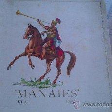 Coleccionismo: 1940-1950. MANAIES. GERONA GIRONA. COFRADIA DE JESUS CRUCIFICADO 80 PAG.. Lote 34501120