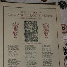 Coleccionismo: GOIGS DE L'ARCANGEL SANT GABRIEL. . Lote 34563531