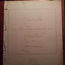 Coleccionismo: CONTRATO PARA LA CONSTRUCCION DEL CEMENTERIO DE CARAVACA. MURCIA. 1928. Lote 34606046