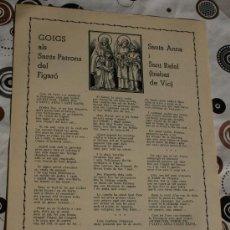 Coleccionismo: GOIGS SANTA ANNA I SANT RAFAEL . Lote 34900412