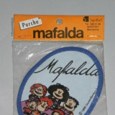 Coleccionismo: PARCHE DE TELA - MAFALDA ( SENFORT - MONTGAT , BARCELONA ) EN SU BLISTER .QUINO , AÑO 1986 .. Lote 34915160