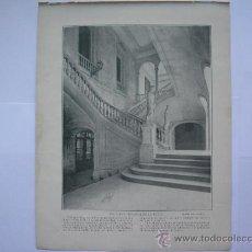 Coleccionismo - FOTOGRAFO RUS,ESCALERA PRINCIPAL DE LA LONJA(BARCELONA A LA VISTA)-PATIO DE LA UNIVERSIDAD,FINAL XIX - 34937861
