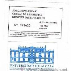 Coleccionismo: SARRERA ENTRADA CUEVAS DE LAS BRUJAS. Lote 34957211
