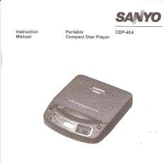 Coleccionismo: SAYO.INSTRUCTION MANUAL.PORTABLE COMPACT DISC PLAYER.CDP - 45A.VARIOS IDIOMAS.65 PÁGINAS.. Lote 34990177